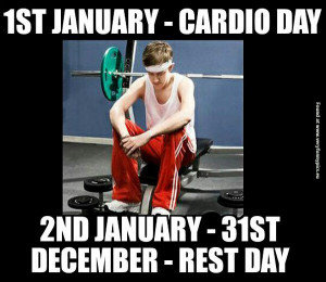 funny pictures cardio day vs rest day