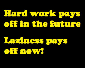 Hard work VS laziness perfect for middle and high schoolers