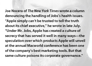 Jobs led to company to tell less than the truth, drawing the ire of ...