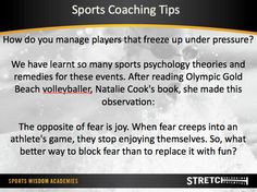 David Becker shares his Sports Coaching Tips More