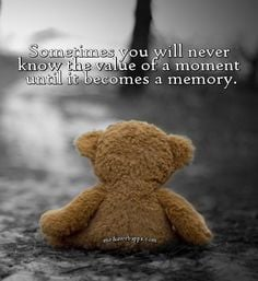 Sometimes you will never know the value of a moment until it becomes a ...