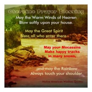 Native American Wisdom Quotes Poster