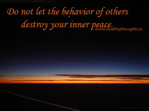 inspirational thought-inner peace
