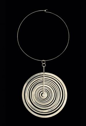 Tapio Wirkkala, Hopeakuu neckpiece, 1970. Sterling silver. Made by ...