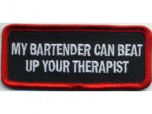 Funny Bartender Quotes My bartender can beat your