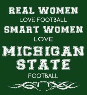 Smart Women Love Michigan State Football - Fabrily