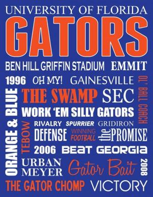 Go Gators! #SubwayArt