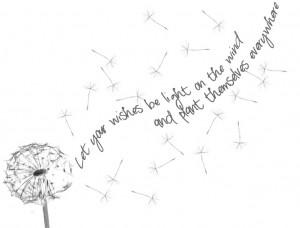 dandelion tattoo, quote