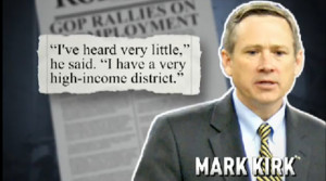 Dem Ad Quotes Mark Kirk: 'I Have A Very High-Income District' (VIDEO)