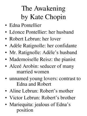 An analysis of edna pontellier by kate chopins