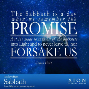 Light will triumph over the darkness. Happy Sabbath from your friends ...