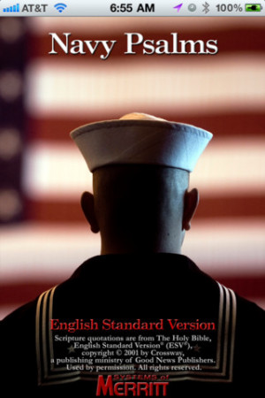 Navy Psalm Daily Quotes ESV 1.0 for iOS: Faith Quotes, Photos Honor ...