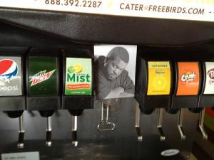 funny Ice Cube soda Fast Food dispenser