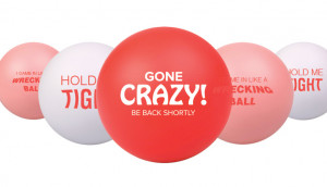 ... stress balls to your clients with funny sayings to give them a good