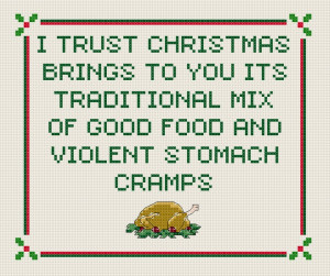 Blackadder's Christmas Carol quote cross stitch sampler PDF pattern ...