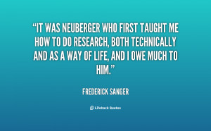 Frederick Sanger Quotes