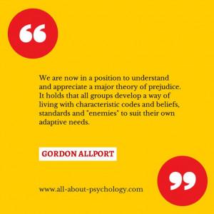 Gordon Allport Quotes Landmark psychology quote on prejudice by gordon ...