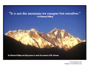 Mt. Everest Inspirational Quote Poster