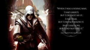 video games assassins creed text quotes ezio assassins creed 2 ezio ...