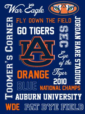 Auburn Tigers Printable Subway Art