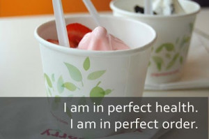 Frozen yogurt, the healthier alternative