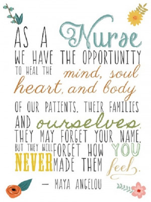 ... and most inspirational nursing quotes we've found on Tumblr