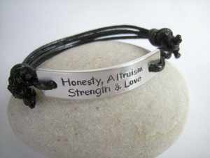 bracelet, Gift for Him, Personalized Stamped Jewelry, Positive quote ...