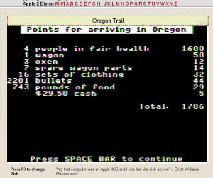 Who remembers the Oregon Trail game?