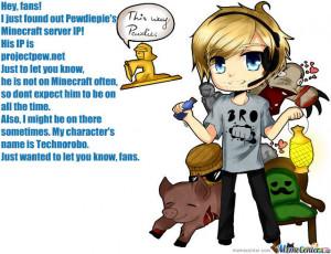 Pewdiepie's Minecraft Server!