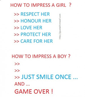 How to impress a boy and girl ?