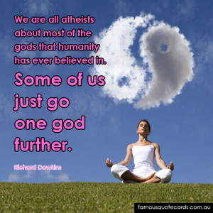 Quotecard Some of us just go one god further