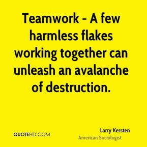 Teamwork - A few harmless flakes working together can unleash an ...