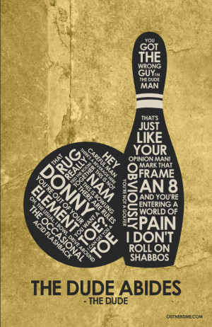 The Big Lebowski Quote Poster - The Big Lebowski Fan Art (38786060 ...