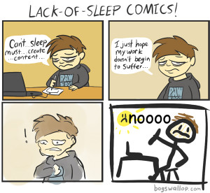 Lack of sleep comics by Bogswallop