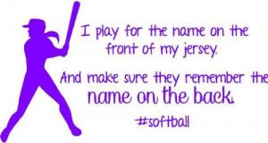 Inspirational Sports Quotes For Girls Softball Softball Wall Decal ...
