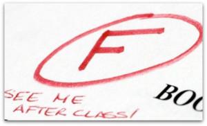 failing grade m