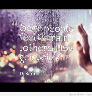 Inspiring quote with rainy day picture
