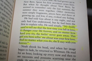 love, quote, text, the notebook