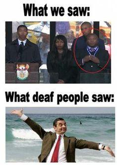 South African fake interpreter More