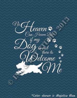 Dog Heaven Quote Typographic Print 8x10 Paw Prints by inkdotstudio