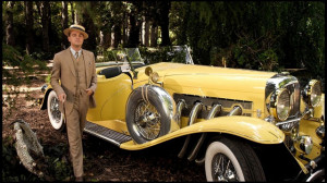 Like his house, Gatsby's car is ostentatious. It's another ...