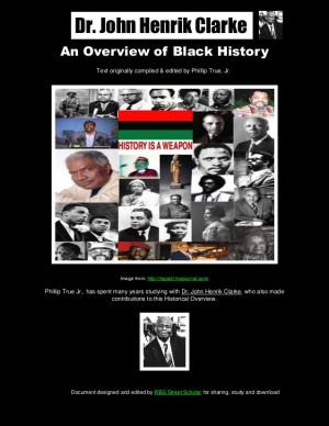 An Overview of Black History-Dr. John Henrik Clarke