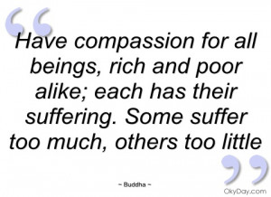 have compassion for all beings buddha