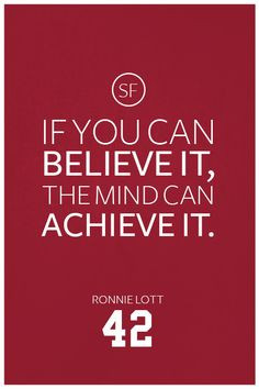 Ronnie Lott Quote on Print. See more at www.finesportsprints.com #lott ...
