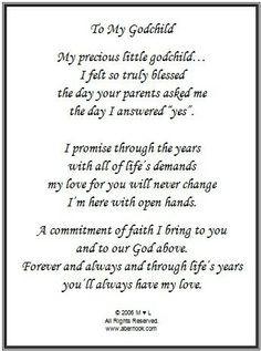 My promise to my Godbaby.
