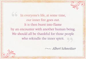 Schweitzer Quote