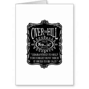 Over The Hill 50th Birthday Greeting Cards