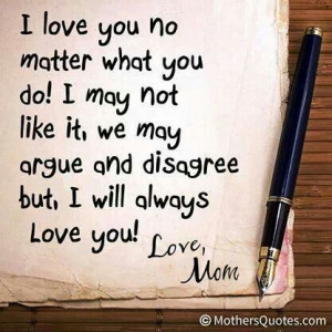 love you no matter what