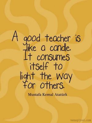 Good teacher quote via www.Venspired.com and www.Facebook.com ...