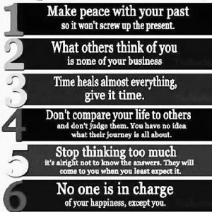 Make peace with your past . . .